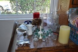 Glassware,vases, dishes