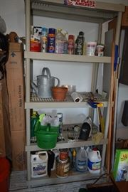 Shelving unit, garage items