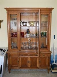 China Cabinet, stemware, glassware