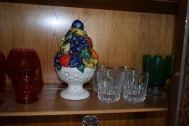 Glassware, decor