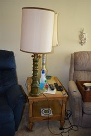Lamp, side table
