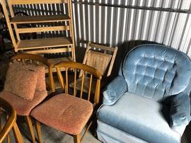 Blue velvet boudoir swivel chair