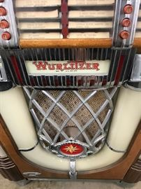 This Wurlitzer jukebox is part of the auction.
