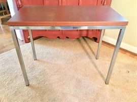 "MCM ""industrial"" occasional table (wood/metal)"