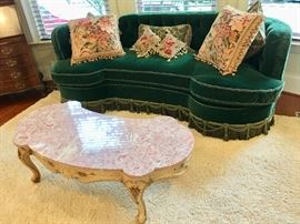 Antique parlor-style sofa