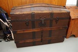 Antique camel back trunk