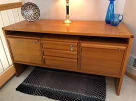 "Vintage Danish Modern teak credenza/sideboard.  54""W x 21 1/2""D x 29""T"