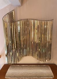 """Very cool C. Jeré """"Kinetic Wave"""" brass wall sculpture.  43""""W x 47""""T.  Excellent vintage condition!"""