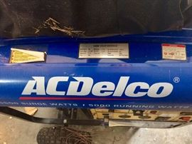 Gas powered generator AC Delco 5500.