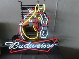 Budweiser Horse Neon