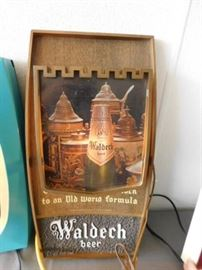Waldech lighted Beer sign