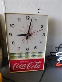 Non-working Coca-Cola  clock