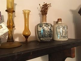 some of the many accents -- the stoneware are old whiskey jugs