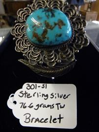 Sterling Silver & Turquoise Bracelet