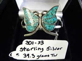 Sterling Silver & Turquoise Butterfly Bracelet