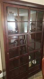 Pottery Barn double door cabinet