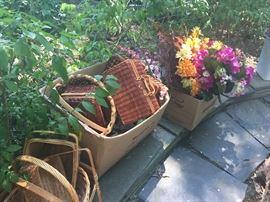 Huge selection of vintage baskets.
