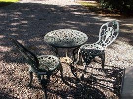 aluminum patio set