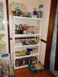 Kitchen misc., glassware