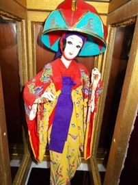 Japanese doll in case