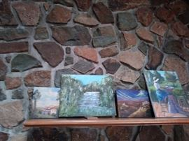 Small paintings.