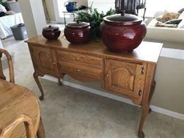 Handmade Solid Oak Buffet