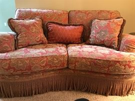 Schnadig 3 piece living room set. Love seat, sofa and lare chair. Almost never been sat on. Like new!!