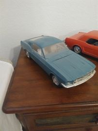 Extensive scale model car collection