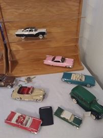 die-cast/metal and plastic cars