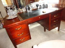 Beautiful vintage partners desk from the 1960's - very solid and in great condition.  Made by Jasper Office Furniture