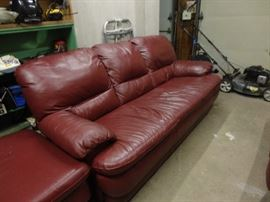 Large leather sofa in good used condition