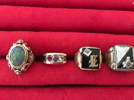 14k gold Rings & 14k gold Masonic rings