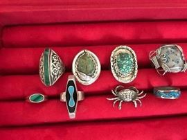 American Indian & Danish sterling rings