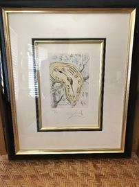 Salvador Dali, signed & numbered lithograph