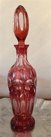 Vintage Bohemian Glass Decanter