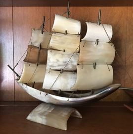 Ship Made Of Horn