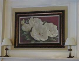 Magnolia print, small lamps