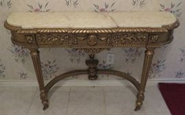 Marble top gilt table