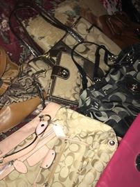 Coach handbags and other designer bags