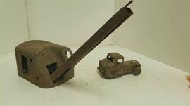 Old Metal Toy Crane