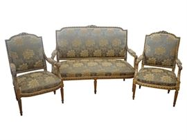 Louis XVI Style Giltwood Suite