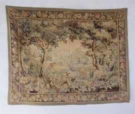 Antique Needlepoint Tapestry