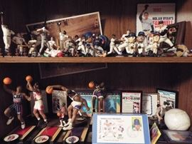 MANY baseball, basketball, hockey and football collectibles.