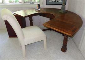 Unusual U shaped hunt table / desk