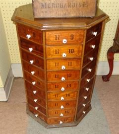 72 drawer hardware store cabinet