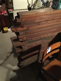 Vintage lumber salvaged from a house on the eastern shore that was demolished in the 1950's.  Kept in the basement for decades - this is beautiful wood!