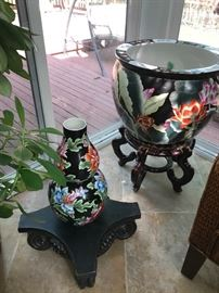 HUGE ORIENTAL PLANTER AND HOME DECORATIONS