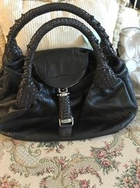 AUTHENTIC FENDI SPY BAG IN BROWN LEATHER