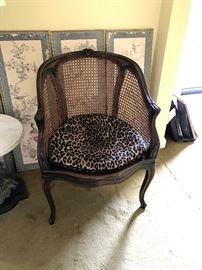 vintage french cane back chair