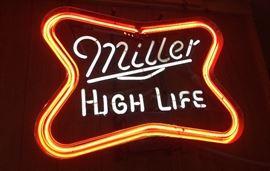 """Miller """"High Life"""" Neon Beer Sign"""